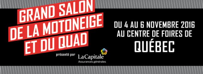 LA CAPITALE ASSURANCES GÉNÉRALES CONFIRME SON PARTENARIAT POUR LE GRAND SALON DE L'INDUSTRIE DE LA MOTONEIGE ET DU QUAD EN 2017