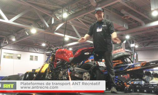 Vu au grand salon motoneige et VTT de Québec:  Plateformes de Transport de VTT / SxS ANT Récréatif