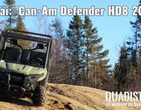 ESSAI : Can-Am Defender HD8 2016